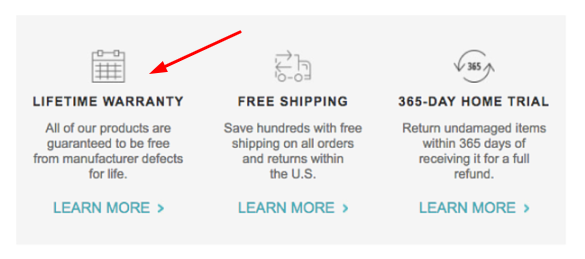 adding warranty in retargeting email