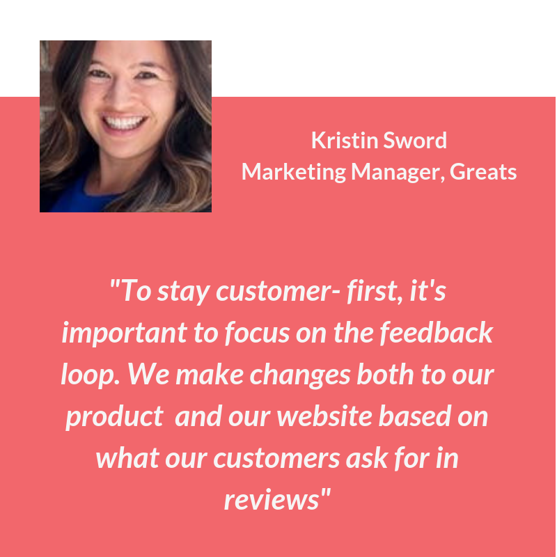Quote on customer review