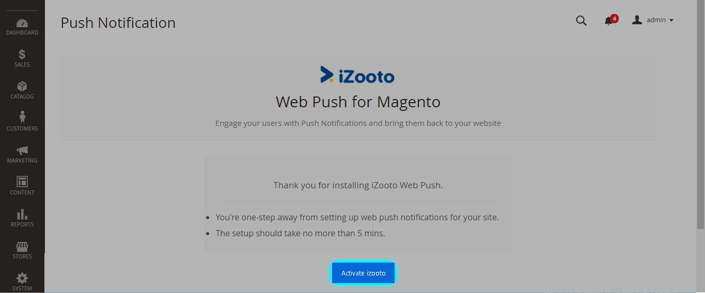 Activate iZooto