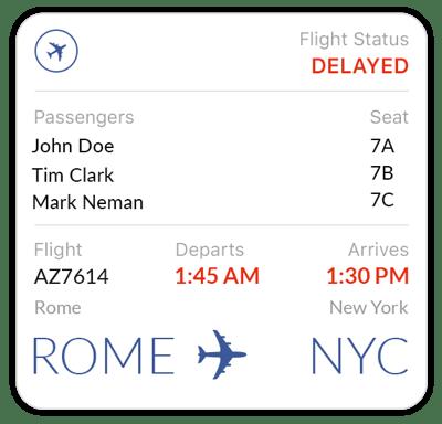 Flight-update-template