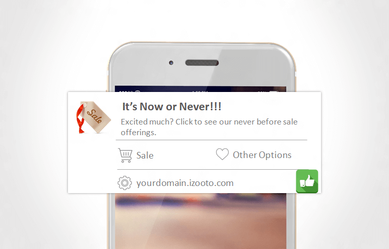 Use Actionable Words to get people to take action on Mobile Web Push Notifications