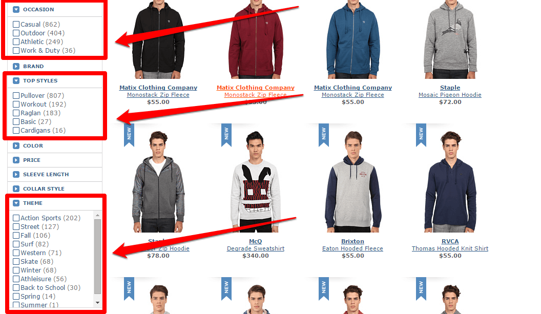 ecommerce search filters ux hacks