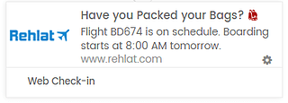 Push notification template