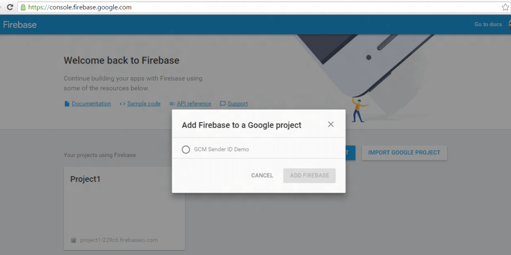 Firebase Cloud Messaging Guide to import GCM projects to FCm