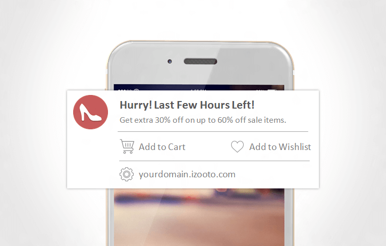 Create a sense of urgency to get people to take action on Mobile Web Push Notifications