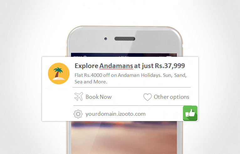 Showcase to your user what they might be missing on if they do not take any action on Mobile Web Push Notifications