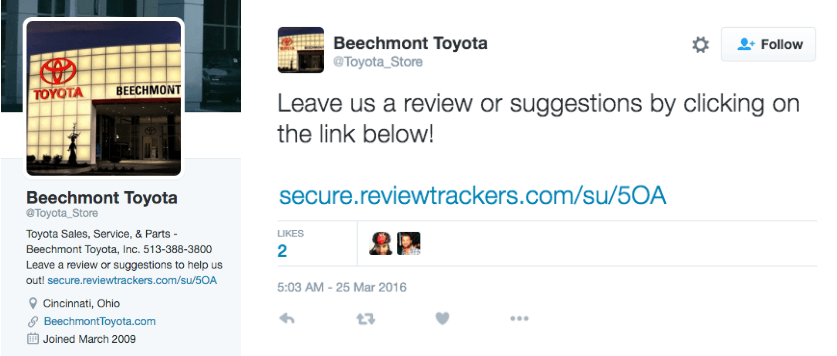 local seo review toyota