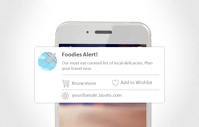 Engage and Address the user directly to get them to take action on mobile web push notifications