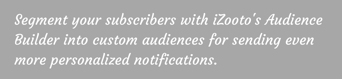 Segment your users with Audience Builder for more personalized mobile web push