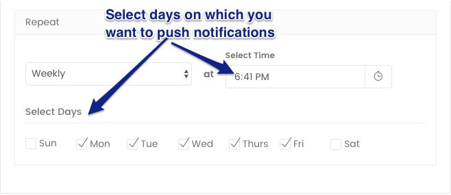 Setting frequency of drip notification campaigns to Weekly - marketing automation