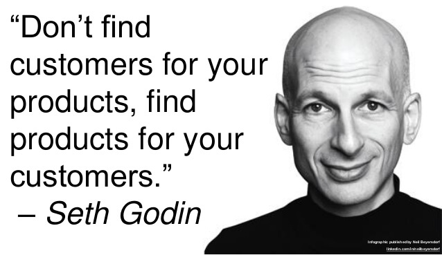 seth godin quote on segmentation