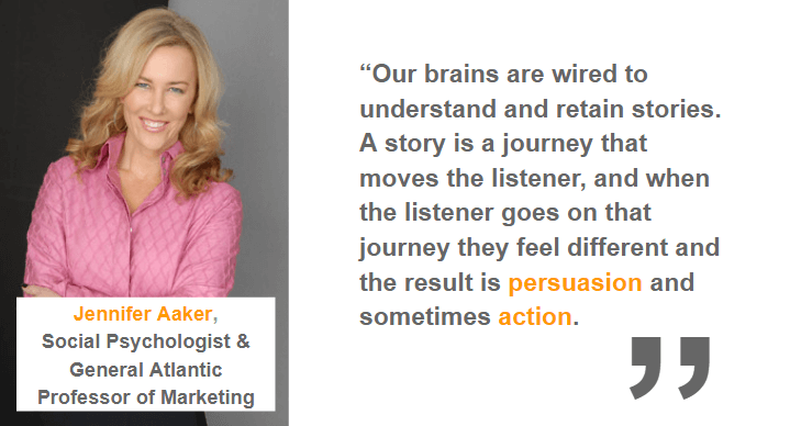 jennifer aaker quote on brand stories