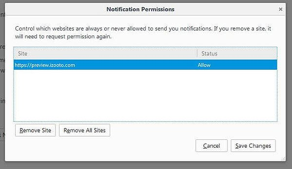 Disable Web Push Notifications