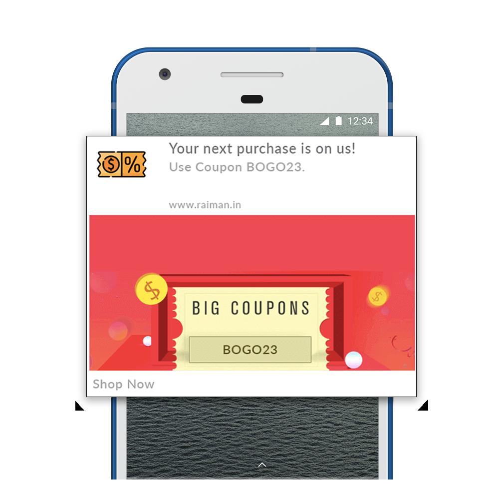 Customer Loyalty Push Notification Example