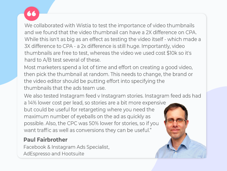 Paul Fairbrother-quote-on-video-ads-retargeting