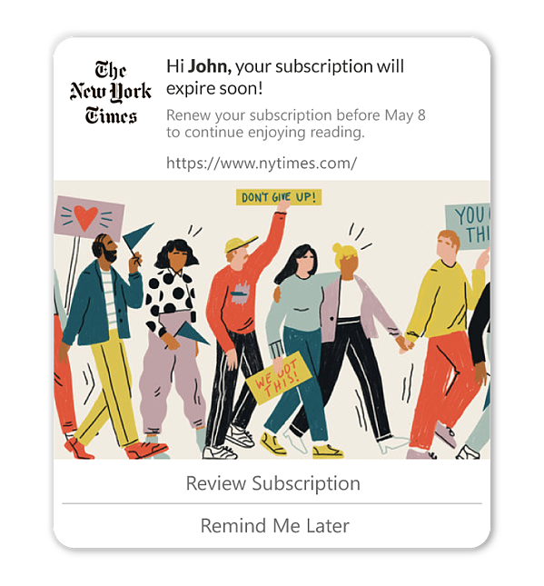 personalized web push notifications