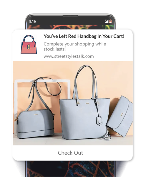 web push notifications example for ecommerce