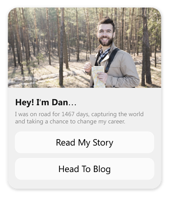Tell your story on messenger