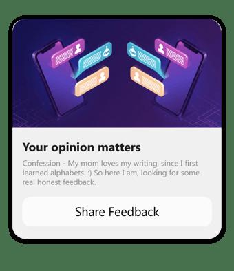 ask for feedback on messenger