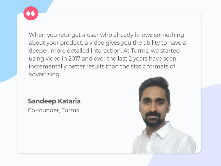 Sandeep-kataria-Turms-quote-on-video-ads