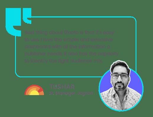 Testimonial of Tushar from Jagran