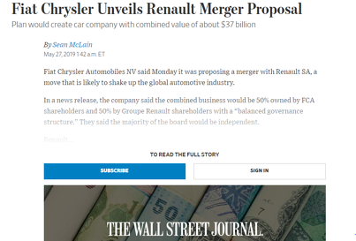 Example of a Hard Paywall from Wall Street Journal