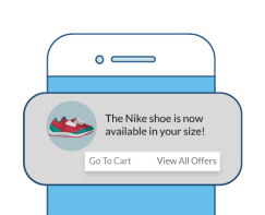 actionable e-commerce notification