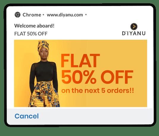 diyanu welcome notification