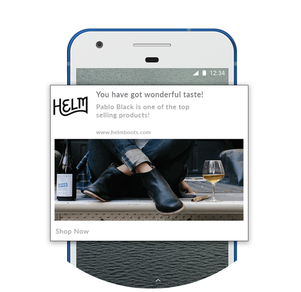 Retarget Product Viewers Push Notification Example