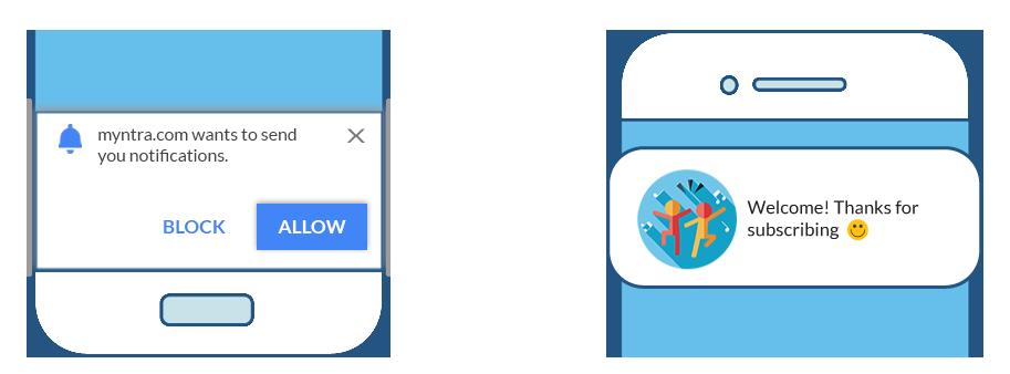 Web push notification prompt
