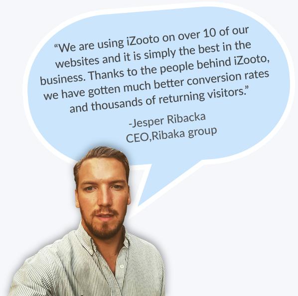 iZooto Push Notifications for Ribaka - Testimonial