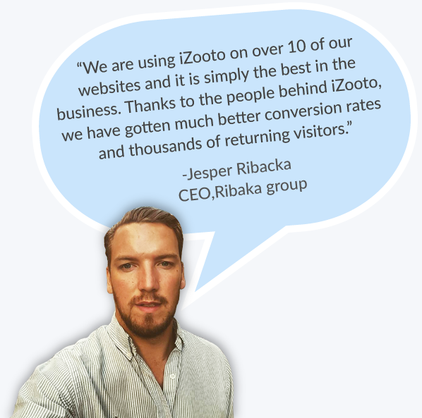 iZooto Push Notifications for Ribaka - Testimonial