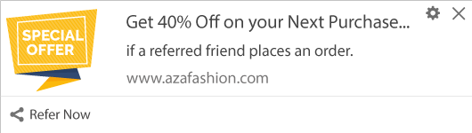 Notification Template for Referral offers
